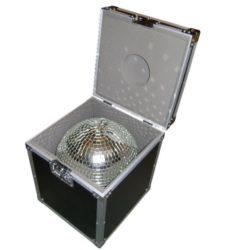 Spiegelkugel 50cm 2x Farbwechsler Case